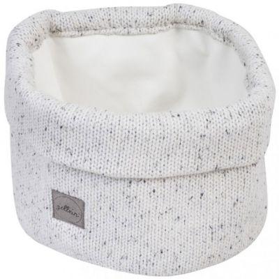 Panier de toilette en tricot Confetti naturel (32 x 15 cm)  par Jollein
