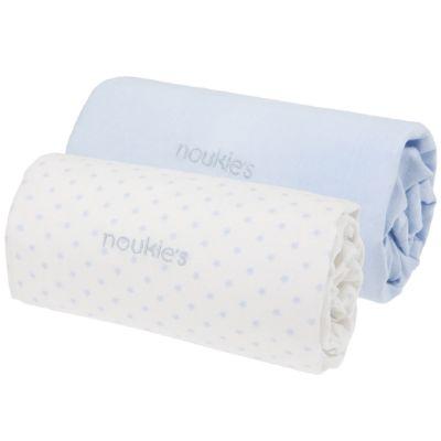 Lot de 2 draps housses bleu Mix et Match (60 x 120 cm)  par Noukie's
