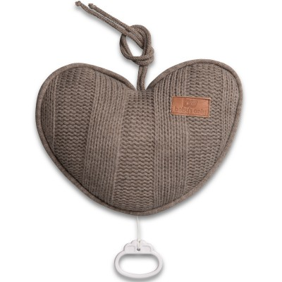 Coussin musical coeur Robust Mix taupe (26 cm) Baby's Only
