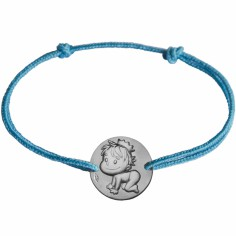 Bracelet cordon enfant Blagueur (or blanc 375°)