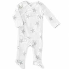 Grenouillère Kimono étoiles grises Silver (6-9 mois : 63 à 68 cm)