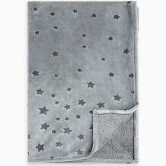 Couverture bébé Weekend Constellation étoiles bleue