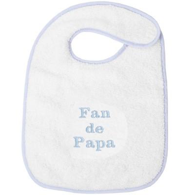 Bavoir à velcro fan de papa bleu  par ANVIE