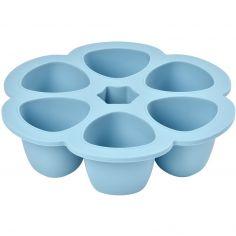 Moule de congélation multi portions silicone bleu (6 x 150 ml)