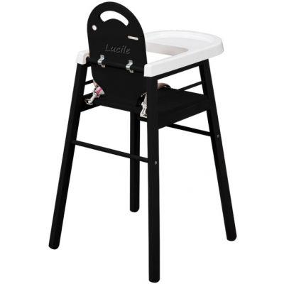 Chaise haute en bois combelle pas cher for Planche bois laque noir