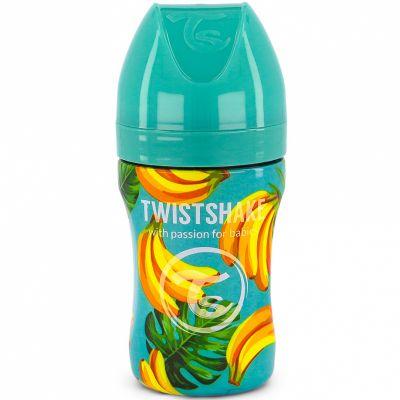 Biberon anti-colique en acier inoxydable banane (260 ml)  par Twistshake