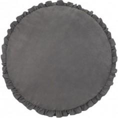 Tapis de jeu à volants gris graphite