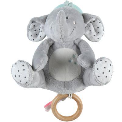 Peluche musicale Eléphant gris Anna & Milo  par Noukie's