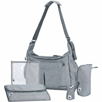 Sac à langer bandoulière Urban Bag Smokey gris  par Babymoov