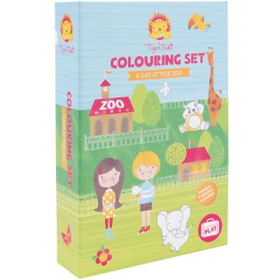 Kit de coloriage Un jour au zoo