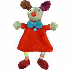 Doudou plat Gustave le clown rouge Magic Circus (29 cm)