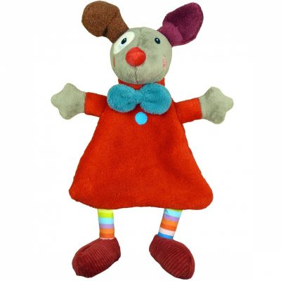 Doudou plat Gustave le clown rouge Magic Circus (29 cm) Ebulobo