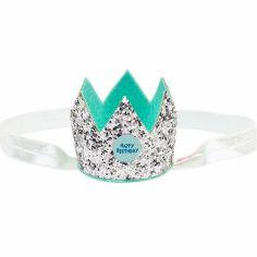 Bandeau couronne anniversaire argentée
