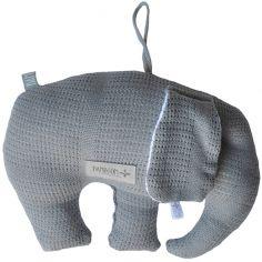 Coussin à suspendre éléphant en bambou bio New Vintage gris
