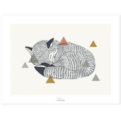 Affiche le renard (30 x 40 cm)  par Lilipinso