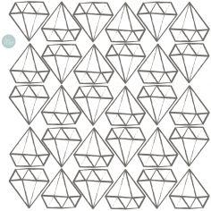 Sticker Diamants contour (modèle intermédiaire)