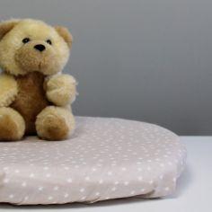 Drap housse de berceau en coton bio Etoiles beige (40 x 80 cm)