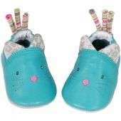 Chaussons cuir chat Les Pachats (12-18 mois) - Moulin Roty