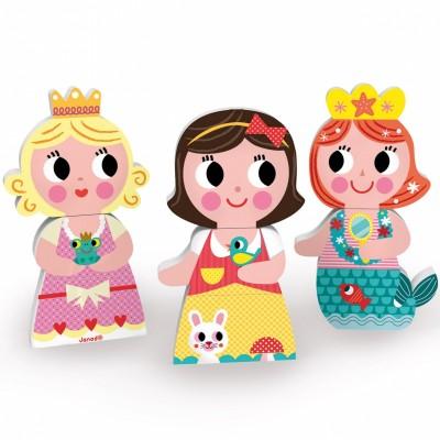 Funny magnets Princesse et sirène (9 pièces)  par Janod