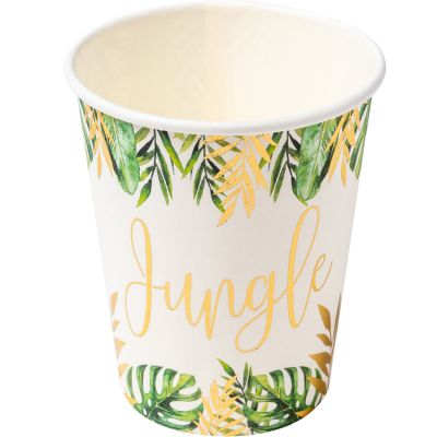 Lot de 8 gobelets en carton Tropical Fever  par Arty Fêtes Factory