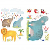 Stickers animaux Les Papoum - Moulin Roty