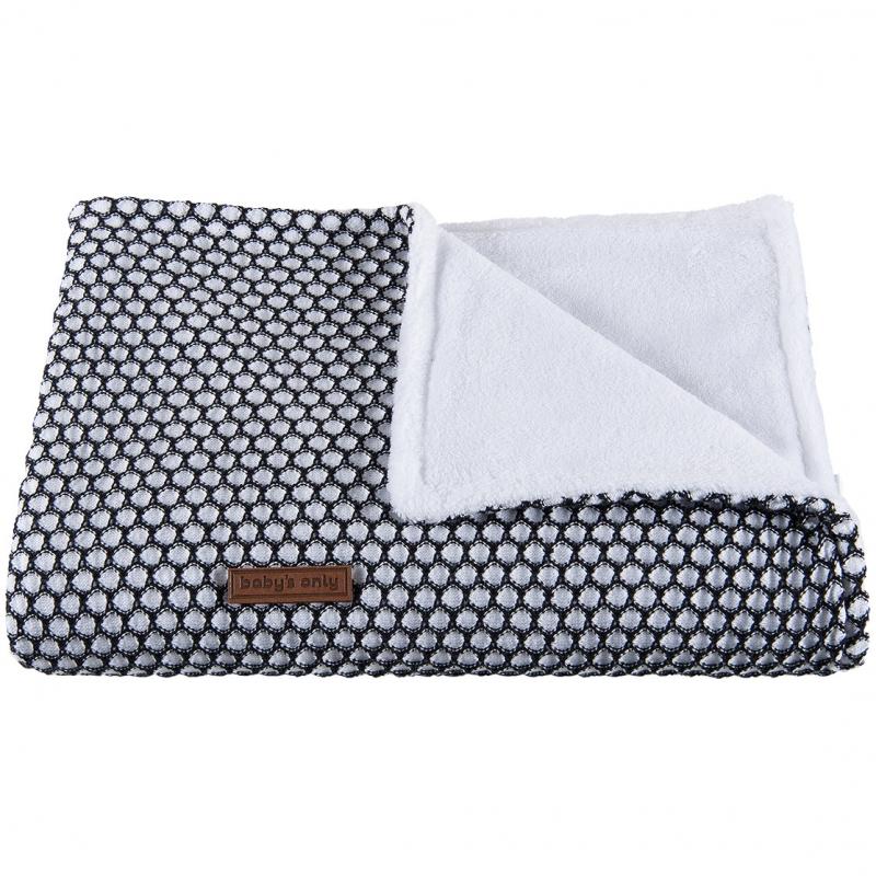 couverture bébé Couverture bébé Sun Teddy doublée polaire blanche et noire couverture bébé