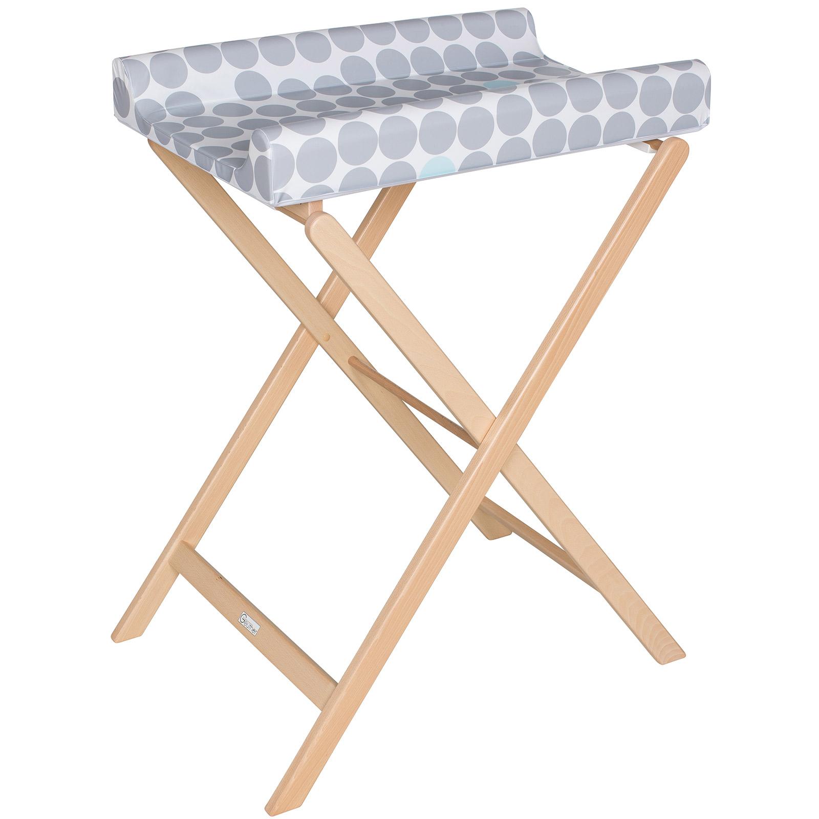 Table À Langer Petite table à langer pliable + matelas pois trixi