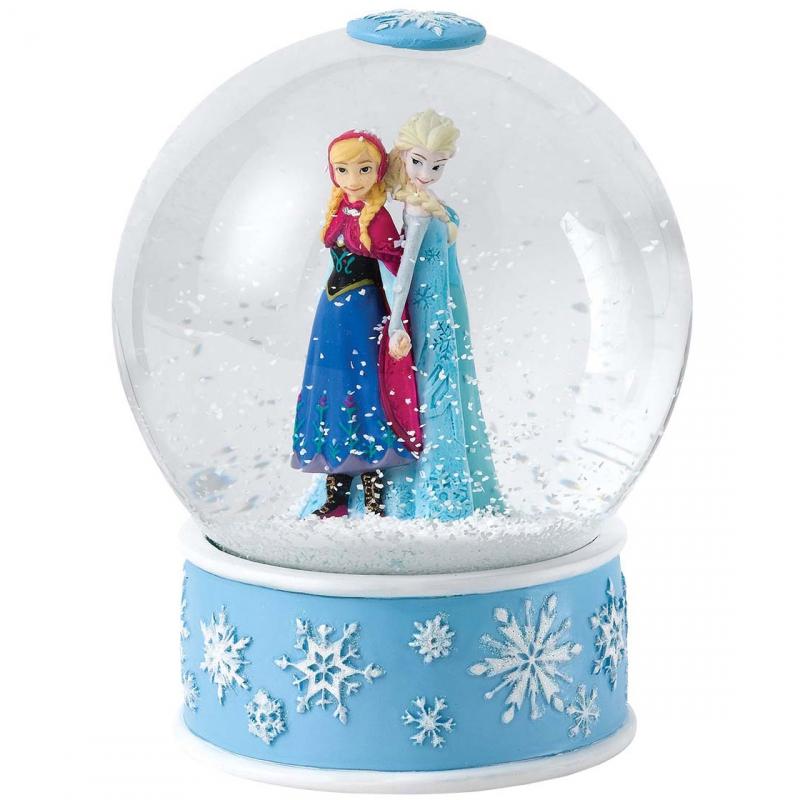 boule à neige anna et elsa : disney enchanting