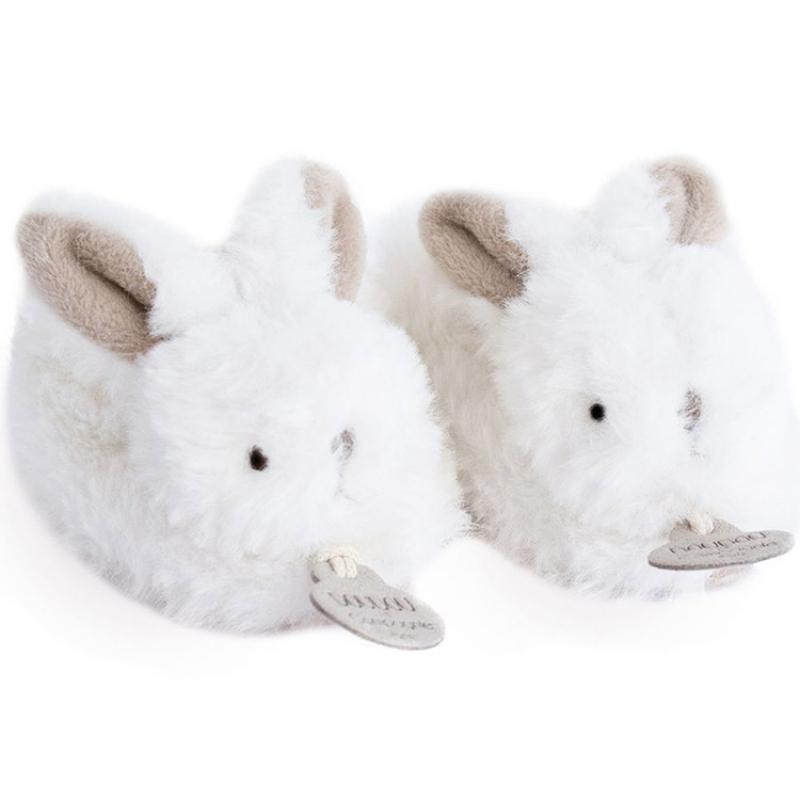 Coffret chaussons hochet Mon tout petit lapin beige (0 - 6 mois)