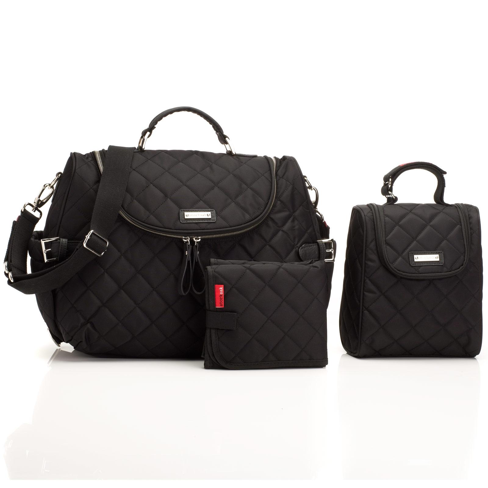 Sac à langer design Storksak Ashley black noir - Collection 2018 aWJrEUZj