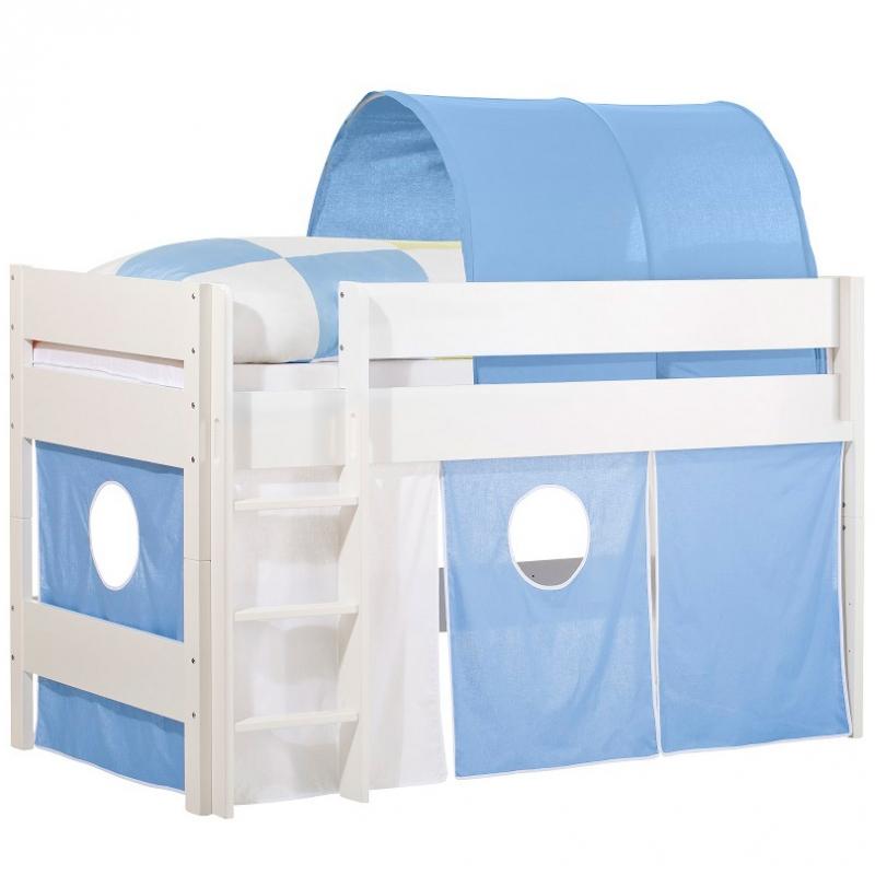Tunnel en tissu pour lit mezzanine enfant bleu : Geuther