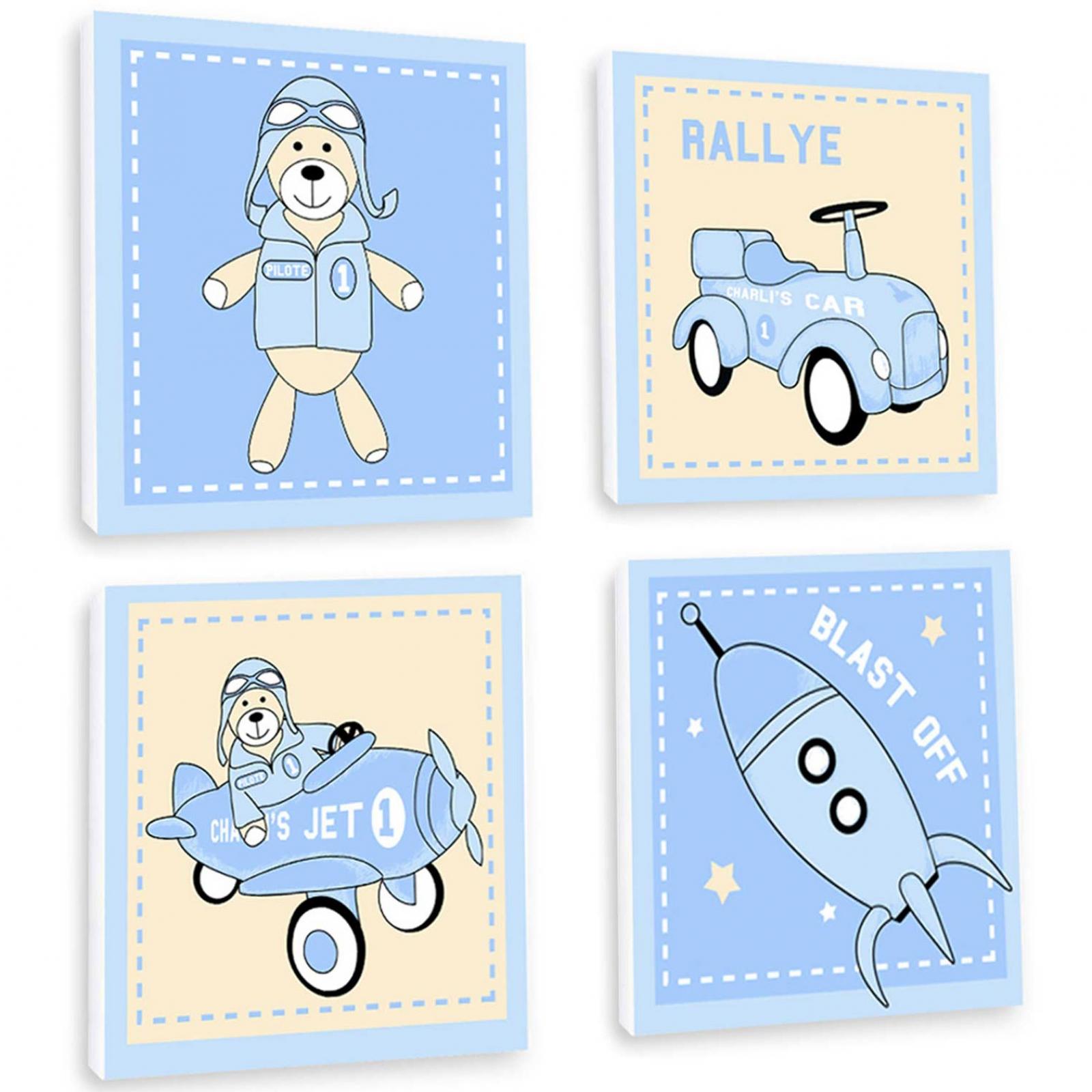Tableau quatuor Une sélection de tableaux quatuor pour chambre bébé