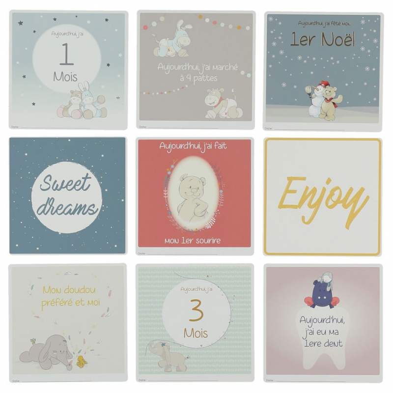 ac35abc92733f Les cartes étapes de bébé   un cadeau de naissance original !