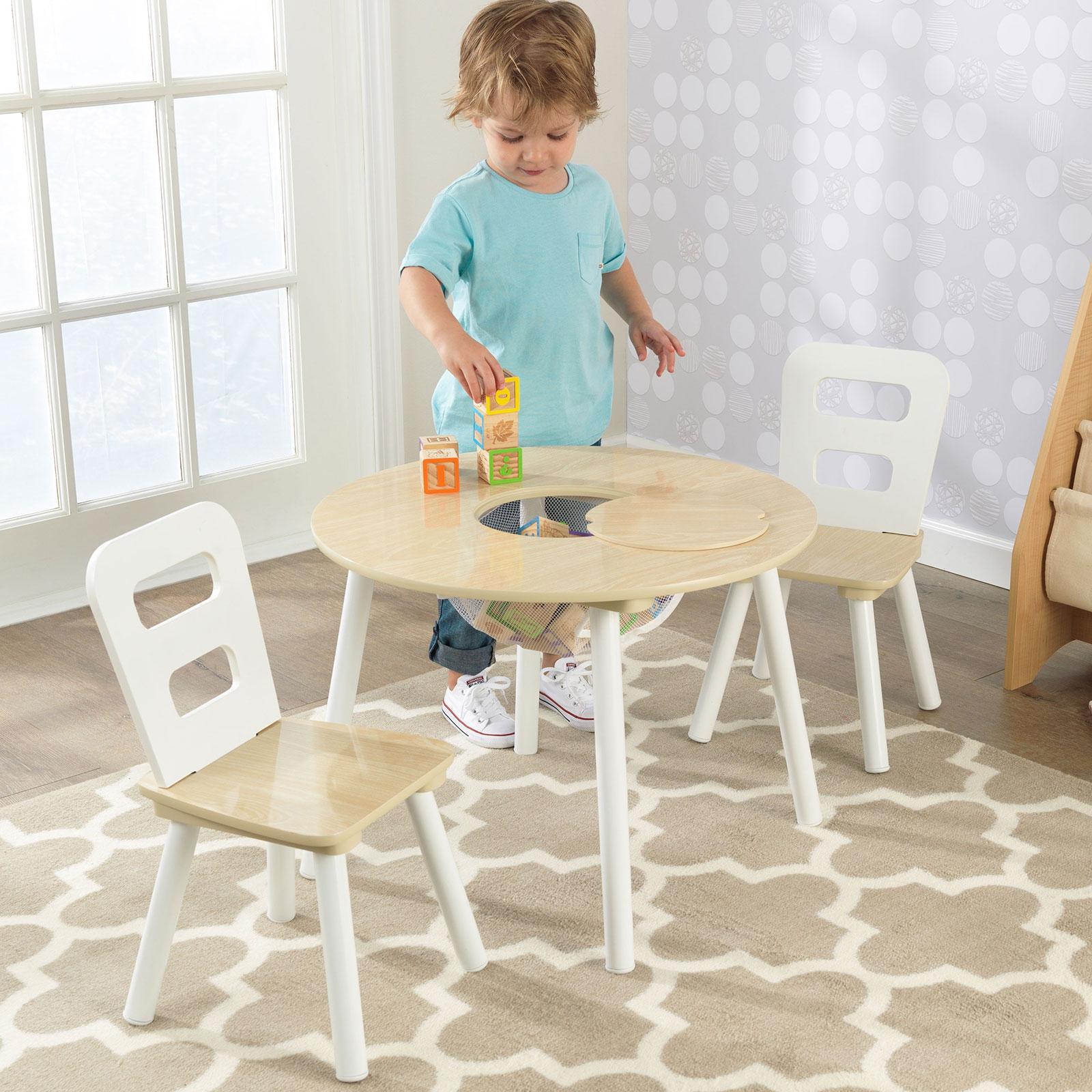 ensemble table ronde et 2 chaises kidkraft - Chaise Et Table Enfant