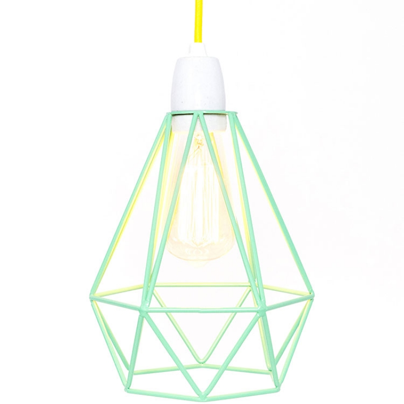 lampe baladeuse diamond vert menthe et jaune with lampe sur pied enfant. Black Bedroom Furniture Sets. Home Design Ideas